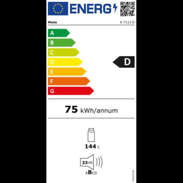Miele K 7113 D Einbau-Kühlschrank mit LED-Beleuchtung für mehr Komfort links